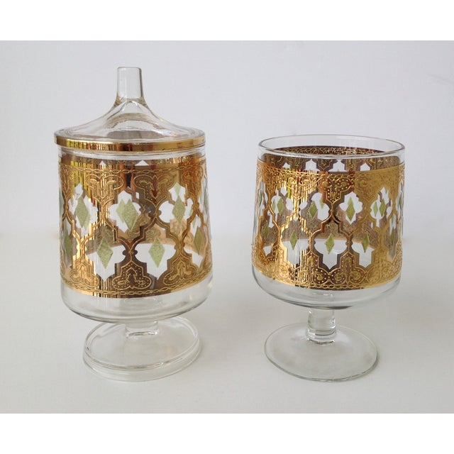 "Culver ""Valencia"" Gilt Footed Containers - Pair - Image 2 of 9"