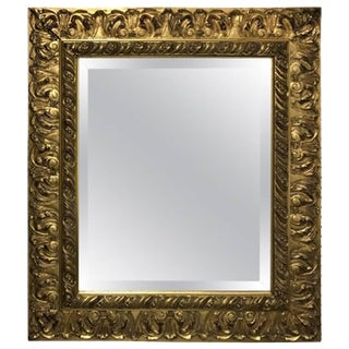 Giltwood Mirror With Beveled Glass For Sale