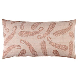 John Robshaw Copper Paisley Large Bolster Pillow