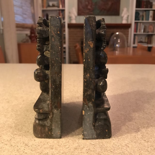 Soapstone Chinese Dragon Bookends - A Pair - Image 6 of 11
