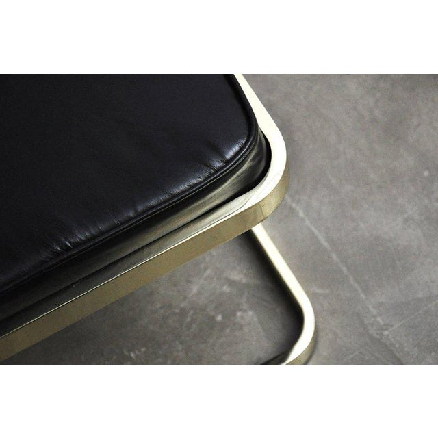 Brass and Leather Stools by DIA For Sale - Image 9 of 10