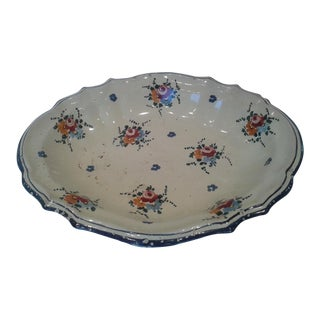 Vintage Hand-Painted Italian Fruit Platter For Sale