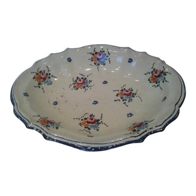 Vintage Hand-Painted Italian Fruit Platter For Sale