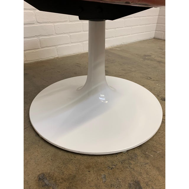 Metal Lucite and Leather Space Age Chairs For Sale - Image 7 of 12