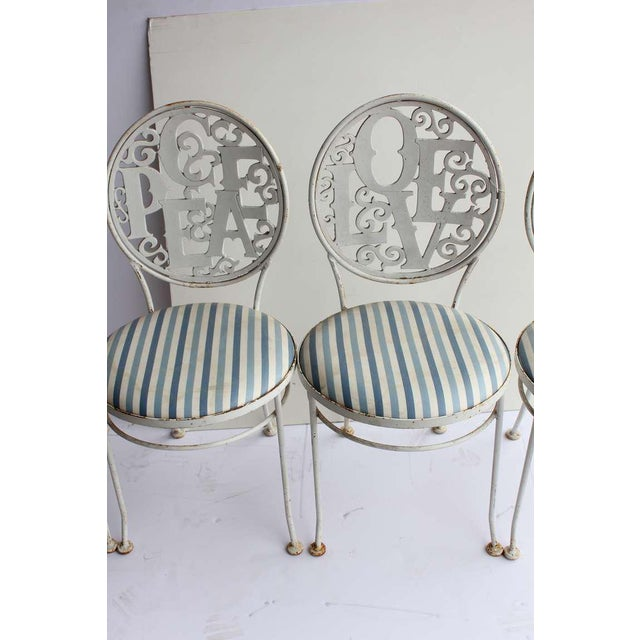 Mid century garden metal chairs by Woodard.