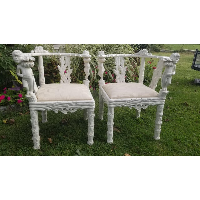 Art Nouveau 19th Century Style Fois Bois Carved Chairs For Sale - Image 3 of 9