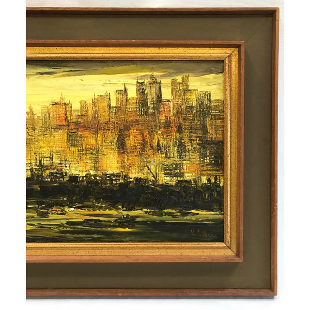 Viola Allen Abstract Cityscape Painting - Image 4 of 9