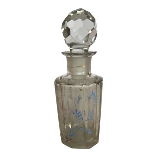 Glass Bottle With Floral Design For Sale