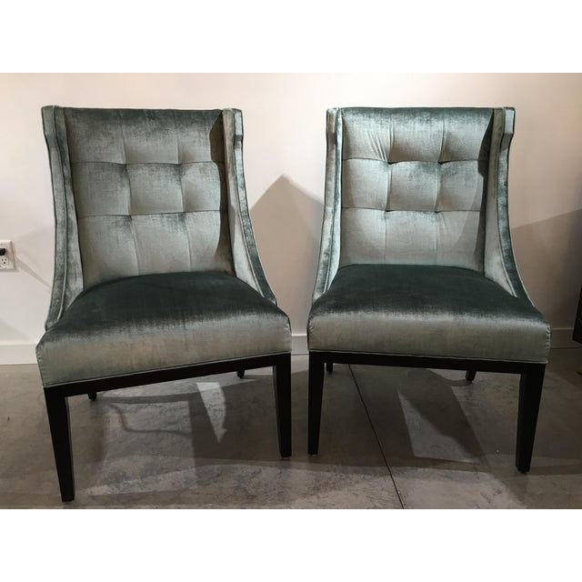 Velvet Designmaster Furniture Franklin Host Wing Chairs - a Pair For Sale - Image 11 of 11