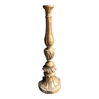 Antique 19th C. Italian Gilt Wood Candlestick