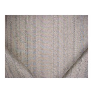 Traditional Threads Lucent Silver Textured Herringbone Stripe Upholstery Fabric - 3-7/8y For Sale