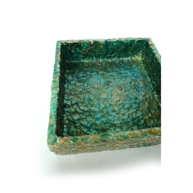 Paul Wirhun Yellow-Green Ostrich Eggshell Box - Image 3 of 3