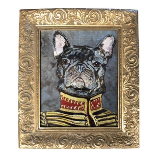 "French Bull Dog ""Military Frenchie"" Print by Judy Henn For Sale"