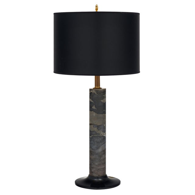 Black French Modernist Marble Table Lamp For Sale - Image 8 of 8