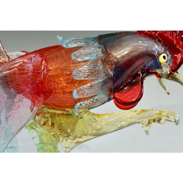 1950s Murano Italian Venetian Glass Rooster Figurine For Sale - Image 10 of 13