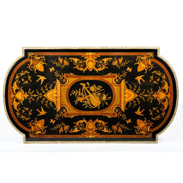 19th Century Boulle Style Center Table For Sale - Image 9 of 11
