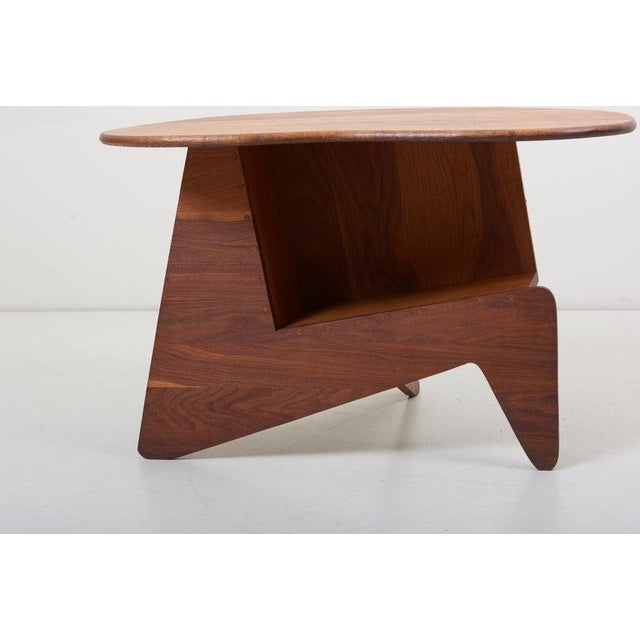 Mid-Century Modern Pair of Wooden Mid-Century Modern Studio Side Tables, Us For Sale - Image 3 of 12