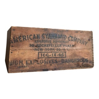 Antique American Cyanamid Dynamite Crate