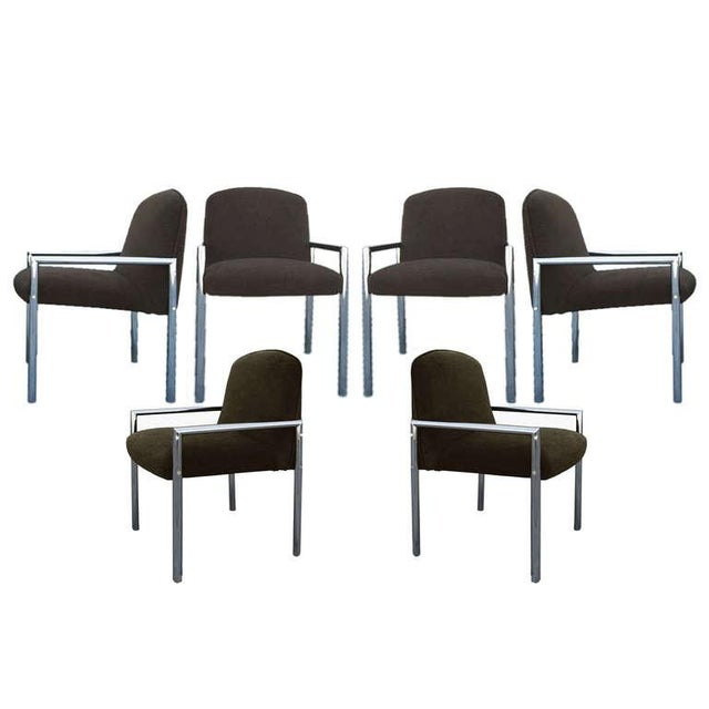 1970s Chrome Armchairs - Set Of 6 For Sale