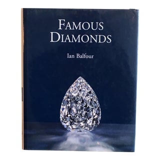 Famous Diamonds by Ian Balfour Hardcover Coffee Table Book For Sale