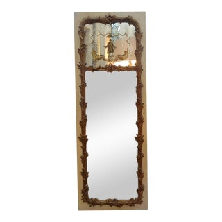 French Maison Jansen Style Chinoiserie Eglomise Mirror For Sale