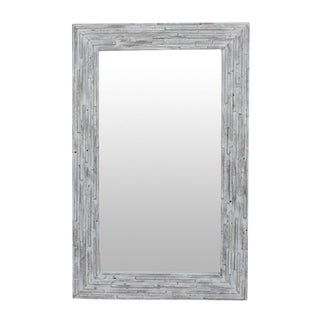 Contemporary Reclaimed Elm Mirror For Sale