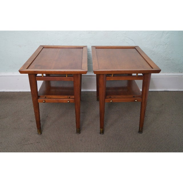 Mid-Century Walnut Side Tables - A Pair - Image 2 of 9