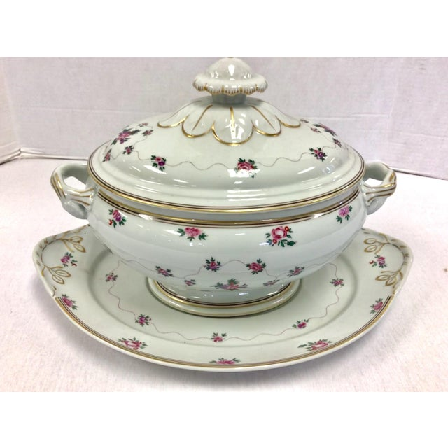 White Mottahedeh Porcelain Soup Tureen With Underplate For Sale - Image 8 of 8