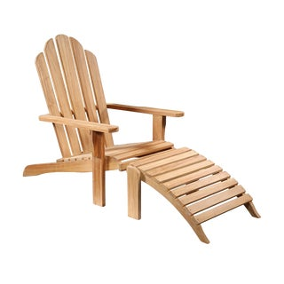 Teak Wood Outdoor Lounge Chair For Sale