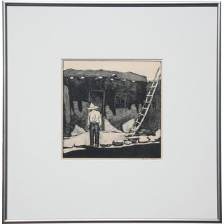 Howard Cook (1901-1980) - Hopi House, original woodblock print, 1927