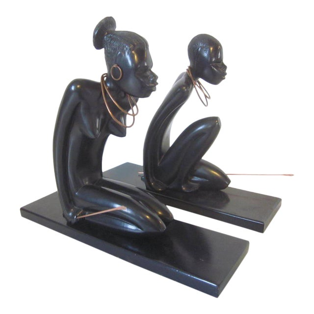 1940s Hand Carved Sculptures - a pair For Sale