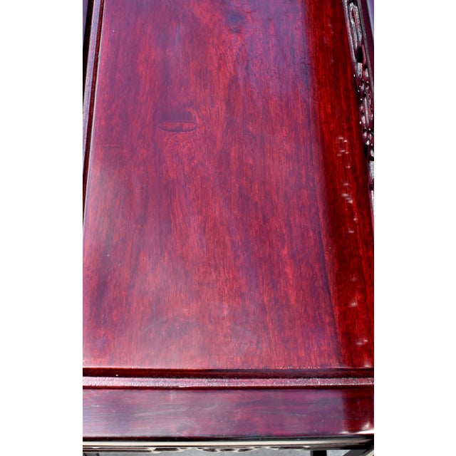 Brown Chinese Rosewood Nesting Tables - Set of 4 For Sale - Image 8 of 13