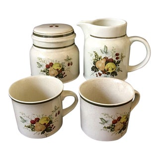 Royal Doulton Cornwall Sugar, Creamer, & Cups - Set of 5 For Sale
