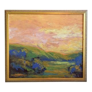 Juan Guzman, Original California Sunset Landscape Oil Painting For Sale