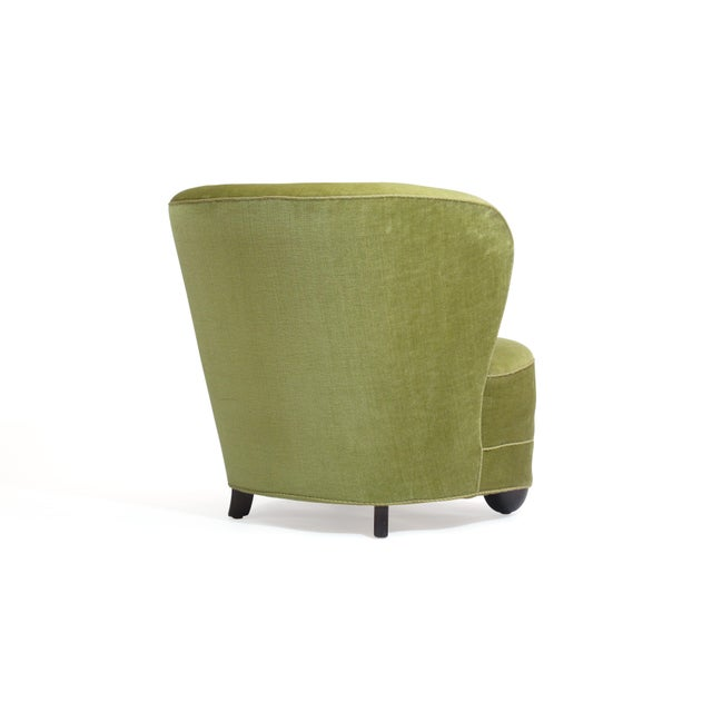 1930s Danish Slipper Chair in Original Green Mohair For Sale In San Francisco - Image 6 of 11