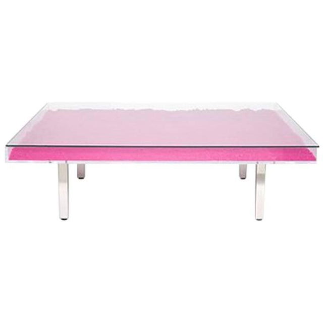 Mid-Century Modern Yves Klein Rose Table For Sale - Image 3 of 3