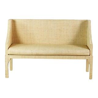 Designer Look Custom Rattan Bench For Sale
