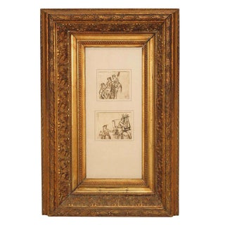 Early 19th Century Neoclassical Pen and Ink Drawings For Sale