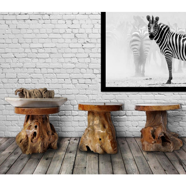 Brown Indonesian Teak Root Stool For Sale - Image 8 of 8