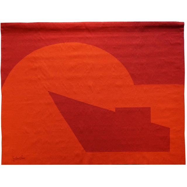"1970s Handwoven Modern Tapestry by Émile Gilioli - ""Vers Le Jour"" For Sale - Image 5 of 5"