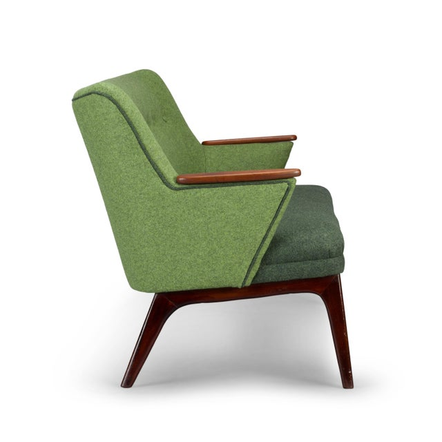 Wood Edgy Danish Reupholstered Green Sofa from CFC Silkeborg, 1960s For Sale - Image 7 of 13