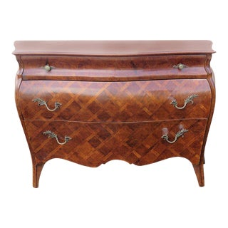 Louis XV Style Parquetry Inlaid Commode