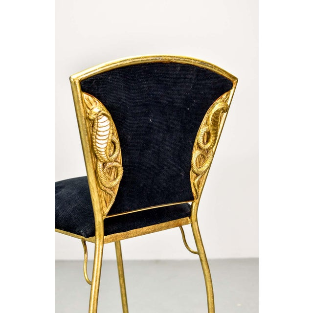 Gold Mid-Century Italian Design Set of Gilded Forged Steel 'GOLD COBRA' Bar Stools, Set of Ten, 1970s For Sale - Image 8 of 13