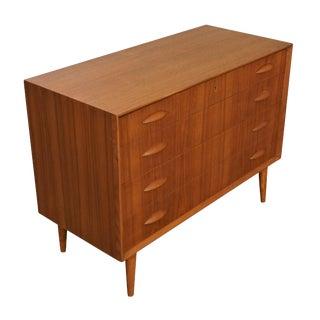 Original Danish Mid Century Johannes Sorth Low Dresser For Sale