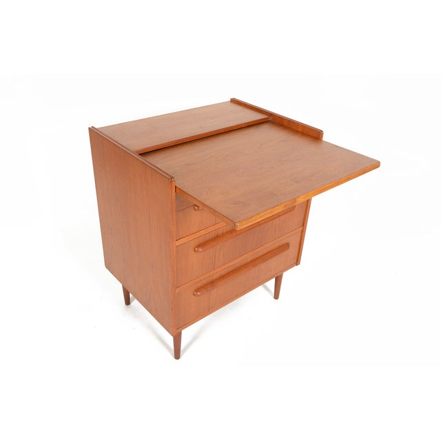 Danish Modern Teak Vanity Dresser - Image 3 of 10