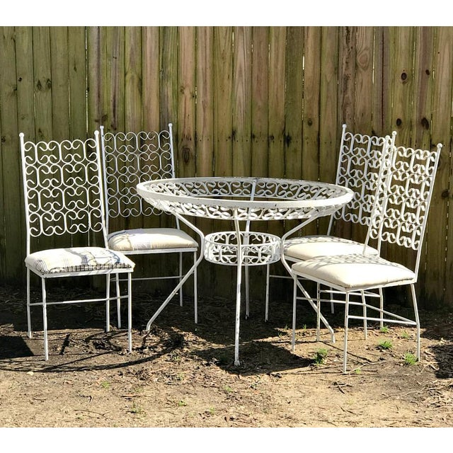 1960s 1960s Mid Century Modern Dining /Patio Set - 5 Pieces For Sale - Image 5 of 5