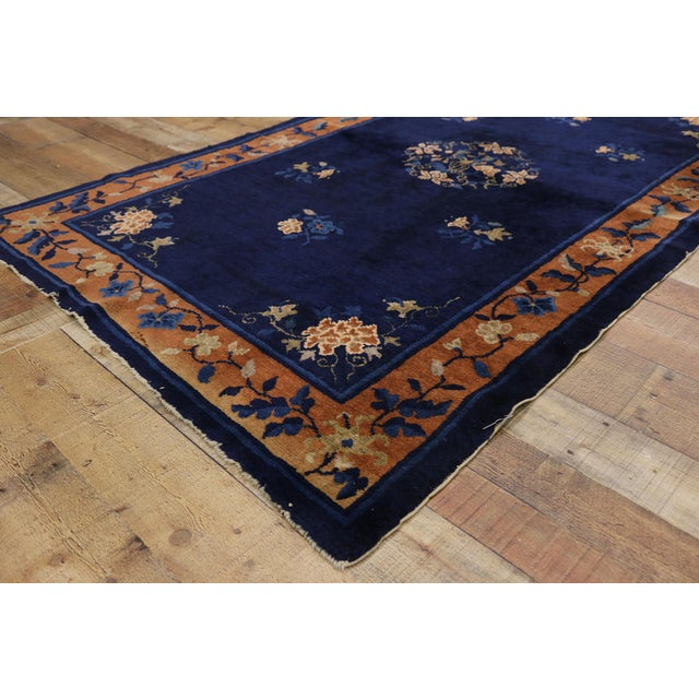 Early 20th Century Antique Chinese Peking Accent Rug - 3′11″ × 6′8″ For Sale - Image 4 of 10