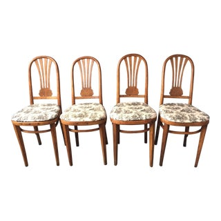 Bentwood Upholstered Chairs - Set of 4 For Sale