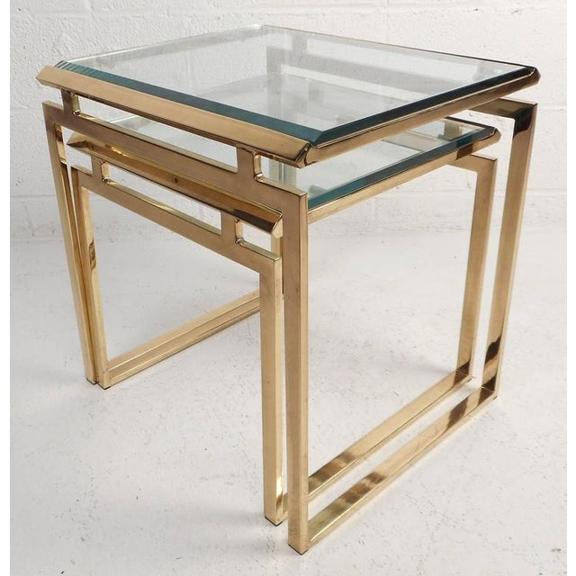 Mid-Century Modern Stacking Tables in the Style of Guy Lefevre - Image 2 of 9