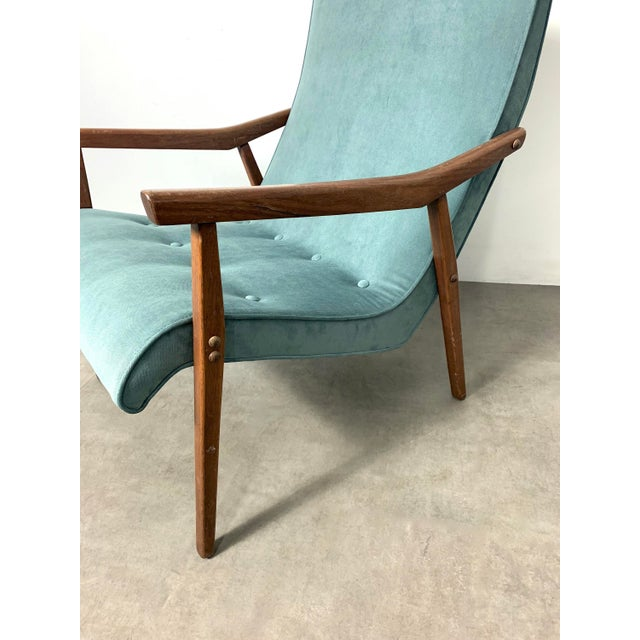 Milo Baughman for Thayer Coggin Walnut Lounge Chair, 1950's For Sale In Detroit - Image 6 of 9